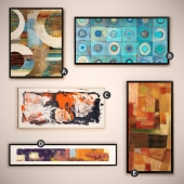 The picture in the frame: 14 piece (Collection 16) Abstract