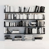 Stand of books