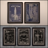The picture in the frame: 12 Pieces (Collection 25) Industrial