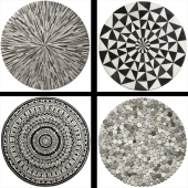 Collection of round rugs BoConcept