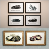 The picture in the frame: 15 piece (Collection 27) Auto theme