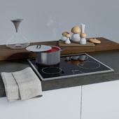 Casserole dish with stainless steel decor Kitchen