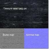 Текстура черных завоскованных планок