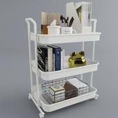 Decorative set on the shelf