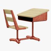 Restoration Hardware Vintage Schoolhouse Desk & Chair