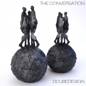 "Sculpture DCUBEDESIGN ""The Conversation"""