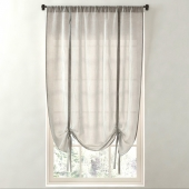 RH / SHEER LINEN-COTTON TIE-UP SHADE