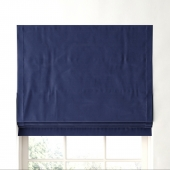 RH / COTTON CANVAS CORDLESS ROMAN SHADE