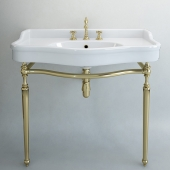 Classical sink with mixer and siphon factory Sbordoni