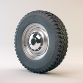 Wheel and tire Willys Rural