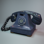 Антикварный телефонный аппарат