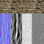 Set tiled Stone wall