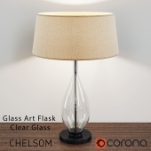 GLASS ART FLASK by CHELSOM (3 variants)