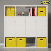 KALLAX Shelf unit & TJENA