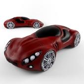Clay figurines car