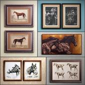 Картина в раме: 22 шт (сборник 46) Лошадь