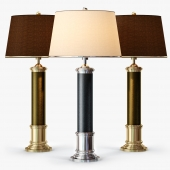 Frederick Cooper Leather Column Table Lamp