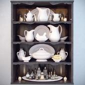 Dishes for shelves; Decor Shelf
