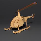 """Wooden designer """"Helicopter"""""""
