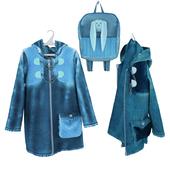 denim jacket on a hanger and hook
