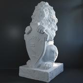 Sculpture of a lion.