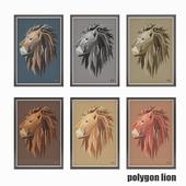 """Poster """"Polygon Lion"""""""