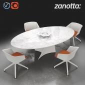 Swivel armchair Liza 2273 and Elica table