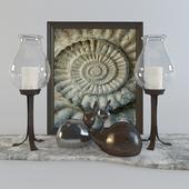 Decorative set Snails