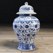 Traditional Chinese vase with lid