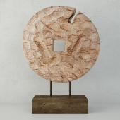 Cincel Chiseled Coin on Stand