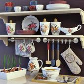 A set of kitchen
