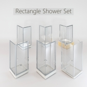 Collection of Rectangular Shower Cabins