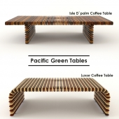 Coffee tables Isle D`palm and Luxor from Pacific Green