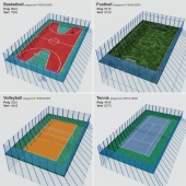 A set of sports fields - Set sport playground