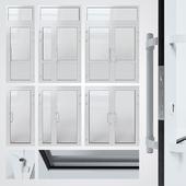 Entrance aluminum door