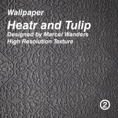 Heart and Tulip Wallpaper