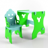 "set of table and chair ""gnome"""
