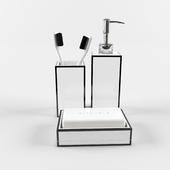 Аксессуары для ванной комнаты ZARA черно-белые