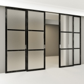Sliding partitions in the style of Loft