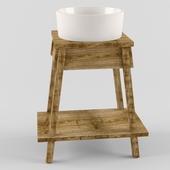Washbasin with shelf