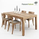 Passoni Nature. Home HELIOS TAVOLO 180 fix + Home MORAAR SEDIA