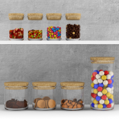 Kitchen set - sweets in jars