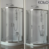 """Shower """"the GEO 6"""" semicircular 90 * 90 cm pallet """"in FIRST"""" and """"PACYFIK"""", tm KOLO"""