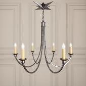Visual Comfort Studio Venetian 6 Light Chandelier in Bronze SC5001BZ
