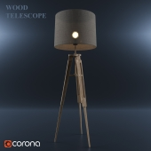 Floor lamp_WOOD TELESCOPE