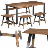 Dining table with teak array Look 180