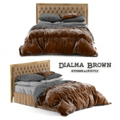 Bed Dialma Brown