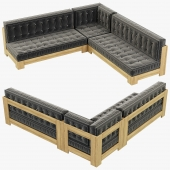 RH Teen Callum Corner Sectional Set