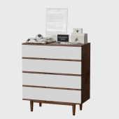 Zuo - LA High Chest Walnut & White