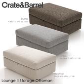 Crate and Barrel Lounge II Storage Ottoman